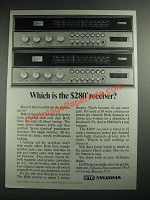 1973 GTE Sylvania CR-2742 and CR-2743 Stereo Receivers Ad
