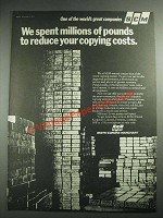 1973 SCM Copiers Ad - We Spent Millions of Pounds to Reduce