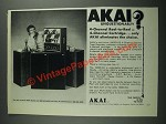 1973 Akai 1800D-SS Stereo Tape Recorder Ad - Unquestionably