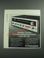 1973 Pioneer SX-525 Stereo Receiver Ad - Heredity
