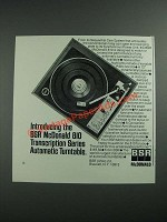 1973 BSR McDonald 810 Automatic Turntable Ad