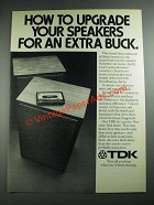 1974 TDK ED Cassette Ad - How to Upgrade Your Speakers