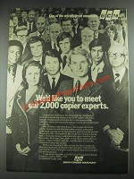 1974 SCM Smith-Corona Marchant Copiers Ad - Meet Our 2,000 Experts