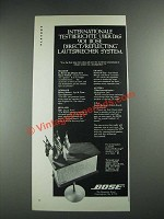 1975 Bose 901 Direct/Reflecting Speaker Ad - International Testberichte