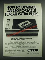 1975 TDK ED Cassette Ad - How to Upgrade an $80 Portable
