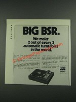 1975 BSR McDonald Turntables Ad - 2 Out of Every 3