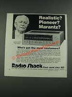 1975 Radio Shack Realistic STA-90 Stereo Receiver Ad - Realistic?