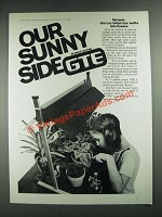 1976 GTE Sylvania Gro-Lux Lamps Ad - Our Sunny Side