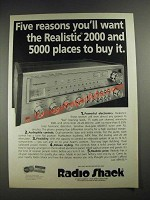 1977 Radio Shack Realistic 2000 Receiver Ad - Five Reasons You'll Want