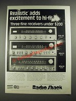 1977 Radio Shack STA-16, STA-21 and STA-52 Receivers Ad