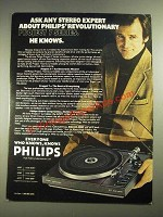 1978 Philips Project 7 Series AF877 Turntable Ad - Any Stereo Expert