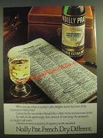 1979 Noilly Prat French Extra Dry Vermouth Ad