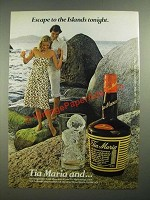 1979 Tia Maria Maria Liqueur Ad - Escape to the Islands