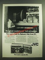 1979 JVC RC-838 and RC-828 Portable Stereos Ad