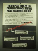 1979 Kenwood Receivers Ad - More Accurate Sound