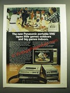 1979 Panasonic PV-2200 VHS Home Video Tape Recorder and PK-300 Camera Ad