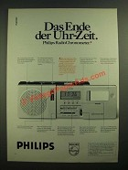 1979 Philips AS 304 RadioChronometer Ad - in German