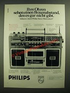 1979 Philips 774 Stereo Radio Ad - in German