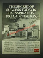 1979 Sharp Calculators Ad - 5806, 8141, 1168, 8144E, 8160