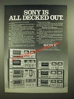 1979 Sony Cassette Decks Ad - All Decked Out