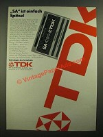 1979 TDK SA Cassette Tapes Ad - in German