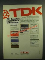 1979 TDK Cassette Tapes Ad - in German