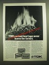1979 TDK D, AD and SA Cassette Tapes Ad - Never Leaves Factory