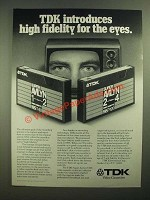 1979 TDK Super Avilyn VHS Video Cassette Tape Ad