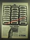 1979 TDK SA Cassette Tapes Ad - Our References