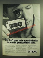1979 TDK SA Cassette Tapes Ad - Perfectionist's Tape
