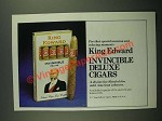 1979 King Edward Invincible Deluxe cigars Ad - Special Occasion
