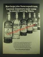 1980 Leroux Liqueurs Ad - Larger Size Same Superb Taste