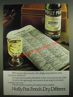 1980 Noilly Prat French Extra Dry Vermouth Ad