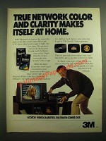 1980 3M Scotch Videocassettes Ad - True Network Color and Clarity
