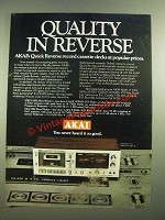 1980 Akai GXC-735D Cassette Deck Ad - Quality in Reverse