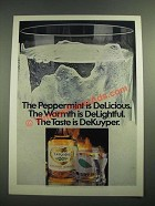 1981 DeKuyper Peppermint Schnapps Ad - Warmth is DeLightful