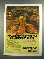 1981 Wolverine Boots Ad - Tough Outside Comfort Inside