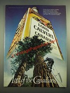 1981 Lord Calvert Canadian Whisky Ad - Lord of the Canadians