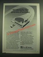 1981 BSR Pro III Series Turntable Ad - The Third Generation