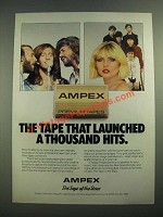 1981 Ampex Cassette Tapes Ad - the Bee Gees and Blondie
