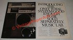 1981 Sony FR-300G Music Lab Stereo Ad - Good Enough to be Sold Separately