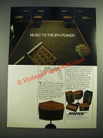 1982 Bose 901 Direct/Reflecting Speakers Ad - Music to the 8th Power