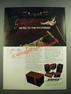 1982 Bose 301 Direct/Reflecting speakers Ad - Music to the 4th Power