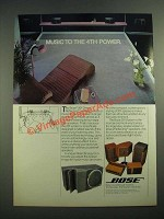 1982 Bose 201 Direct/Reflecting Speakers Ad - Music to the 4th Power