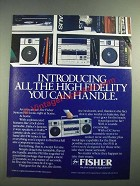1972 Fisher CO-12 Component Stereo System Ad - The Perfect