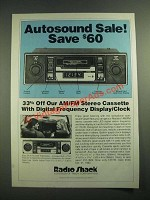 1982 Radio Shack Realistic Car Stereo Ad - Autosound Sale