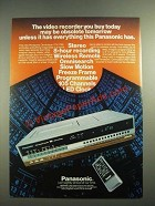 1982 Panasonic Omnivision PV-1780 Video Cassette Recorder Ad