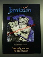 1982 Jantzen North Country Sweaters Ad - Nobody Knows Bodies Better