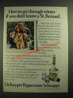 1984 DeKuyper Peppermint Schnapps Ad - How to Get Through Winter