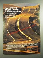 1984 Whistler Spectrum Radar Detector Ad - You're Entering Whistler Country